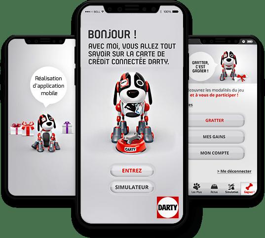 Conception, développement et publication de l'application mobile Darty par l'agence experte en développement mobile Mojjoo