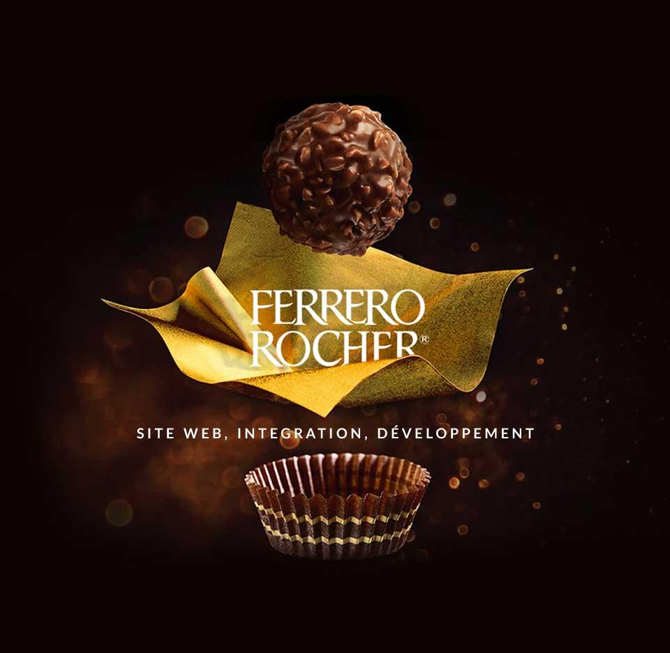 Site web intégration développement Ferrero Rocher
