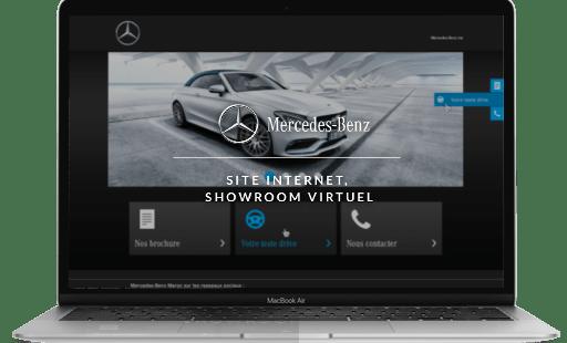 Conception et développement du site internet de Mercedes-Benz par l'agence web Mojjoo