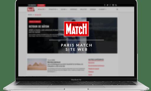Conception et développement du site internet de Paris match par l'agence web Mojjoo