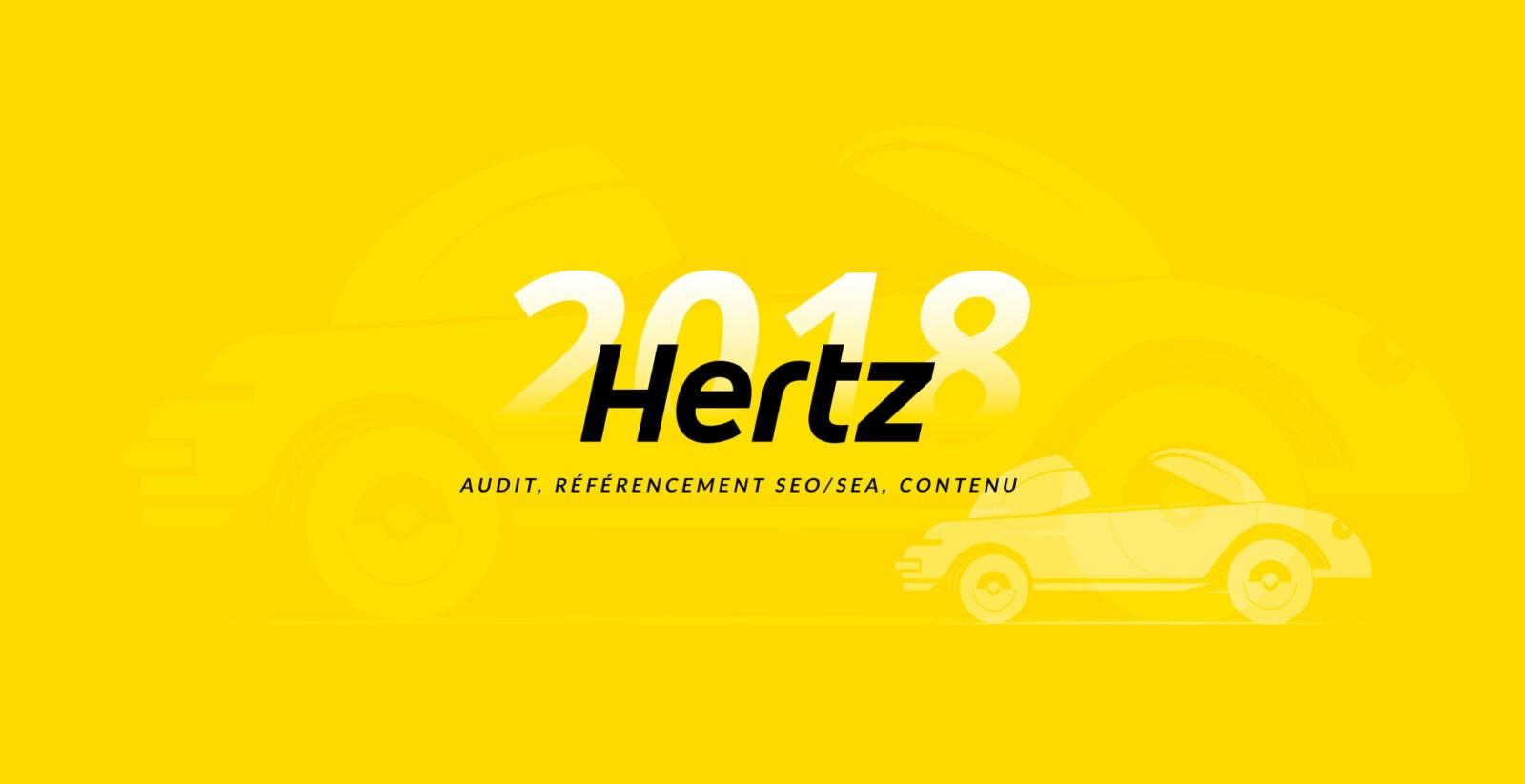 Mise en place et optimisation du référencement naturel et payant du site internet de HERTZ par l'agence web Mojjoo Paris.