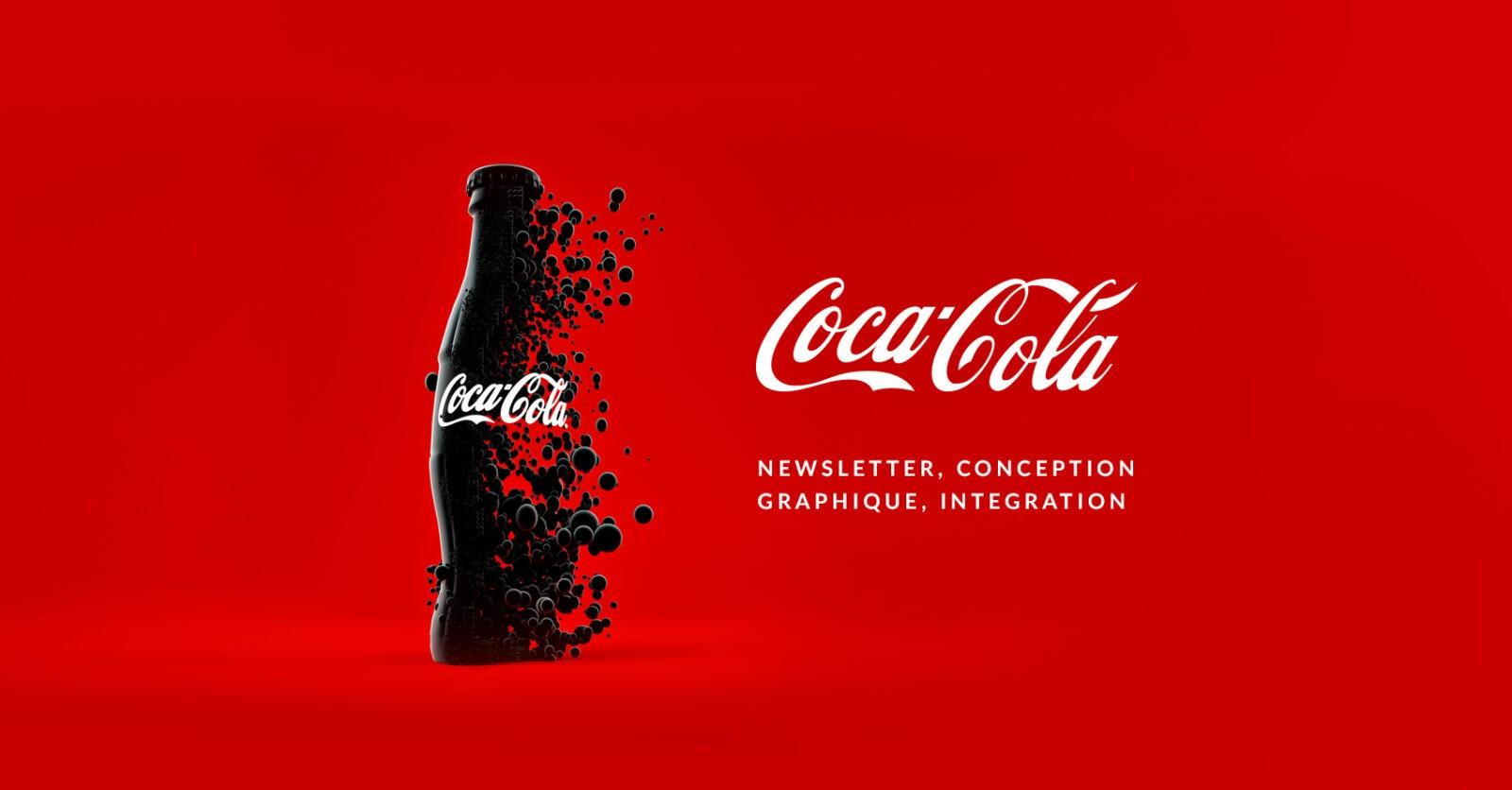 Conception graphique et E-mailing pour Coca-cola par l'agence web Mojjoo.