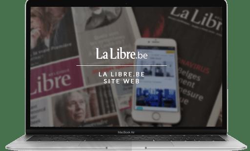 Mise en place et optimisation du référencement naturel du site internet de La libre par l'agence web Mojjoo.