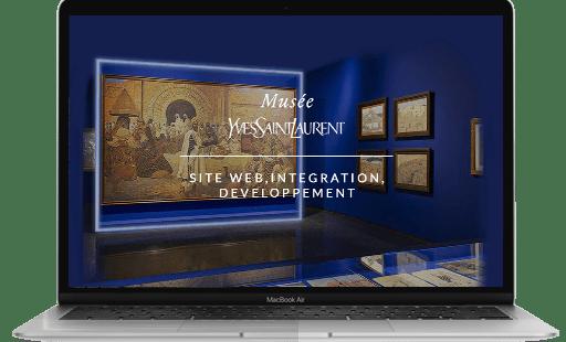 Conception et développement du site internet de YSL par l'agence web Mojjoo