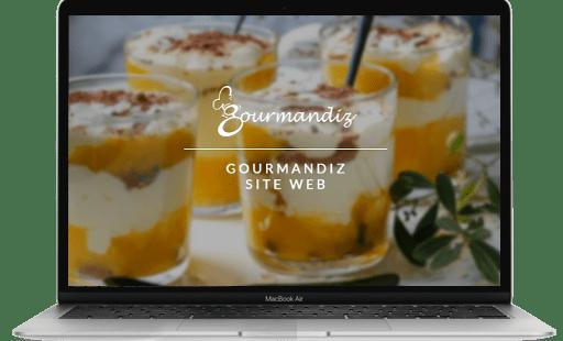 développement du site internet de Gourmandiz par l'agence web Mojjoo