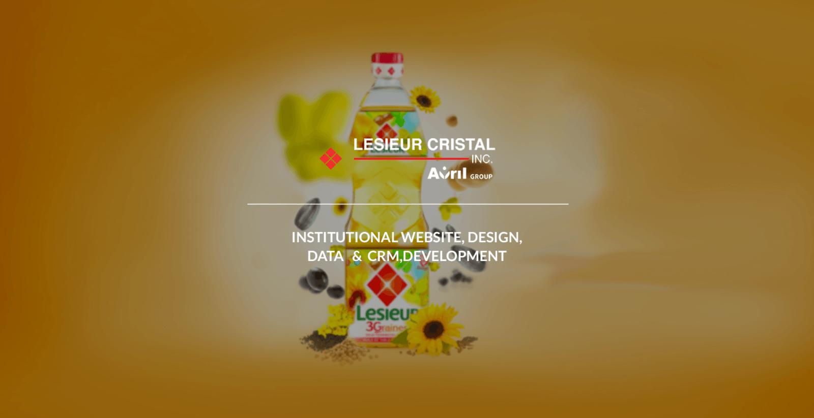 Conception et développement du site web de Lesieur par l'agence web Mojjoo Paris.