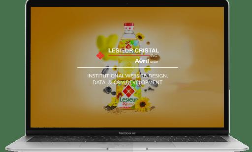 Conception et développement du site internet de Lesieur par l'agence web Mojjoo