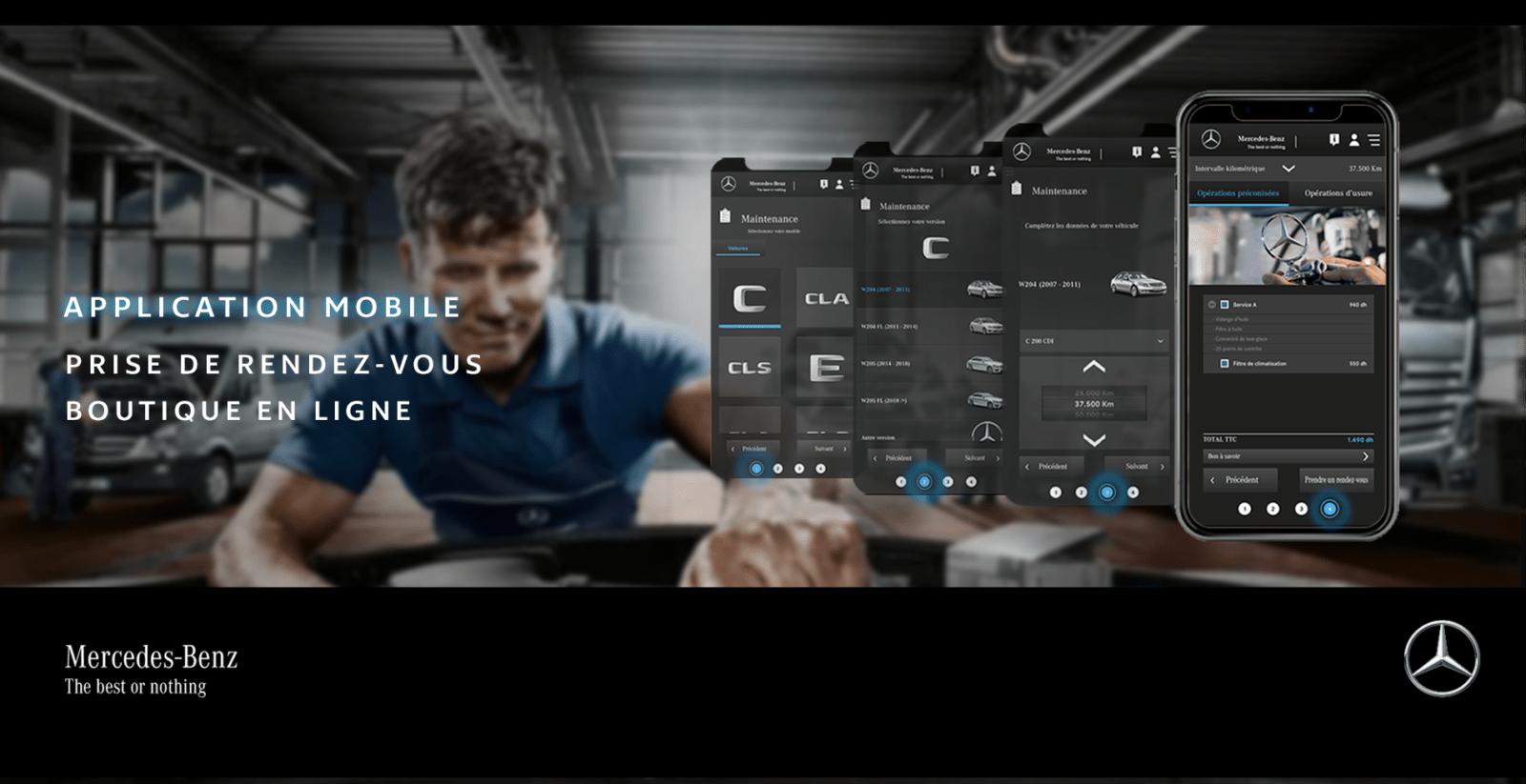 Conception et développement du site web et de l'application mobile Mercedes par l'agence web et mobile Mojjoo à Paris